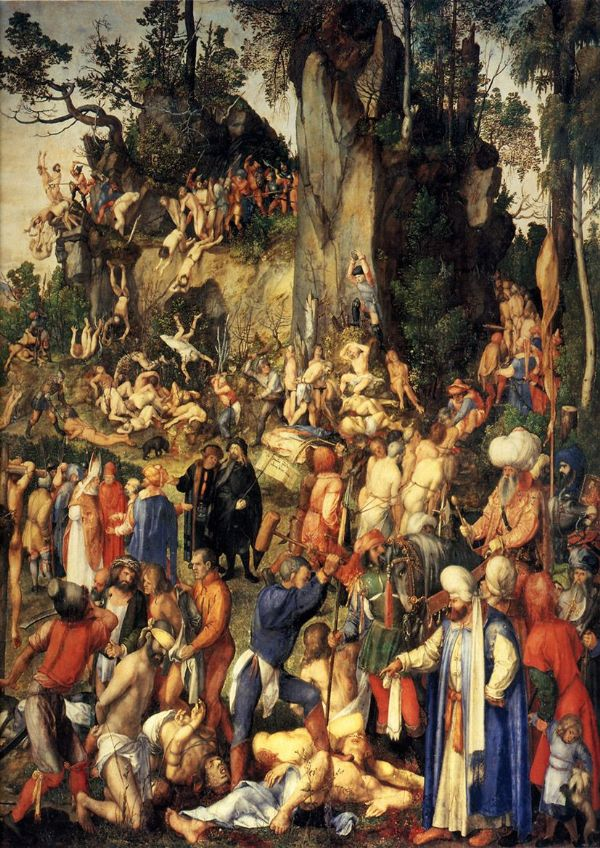 Durer, Albrecht: The Martyrdom of the Ten Thousand. Biblical/Religious Fine Art Print/Poster. Sizes: A4/A3/A2/A1 (00165)